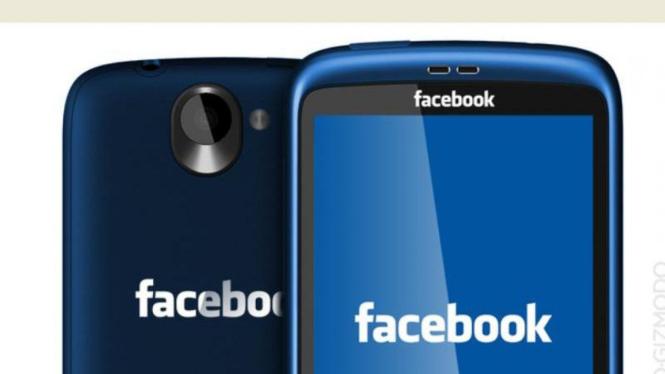 Ilustrasi Facebook Phone.