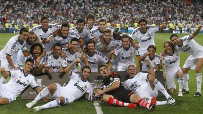 Real Madrid VS Barcelona di Piala Super Spanyol 2012