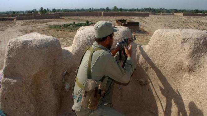 Pasukan Afganistan bertugas di Provinsi Kunduz