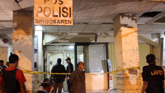 Pos Polisi Singosaren, Solo, jadi sasaran penembakan brutal