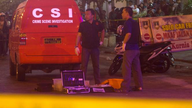 Lokasi penembakan polisi di Pos Polisi Singosaren, Solo