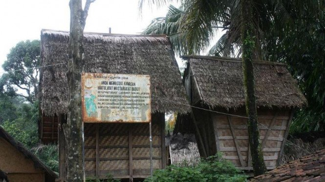 Rumah warga suku Baduy di Desa Cibeo