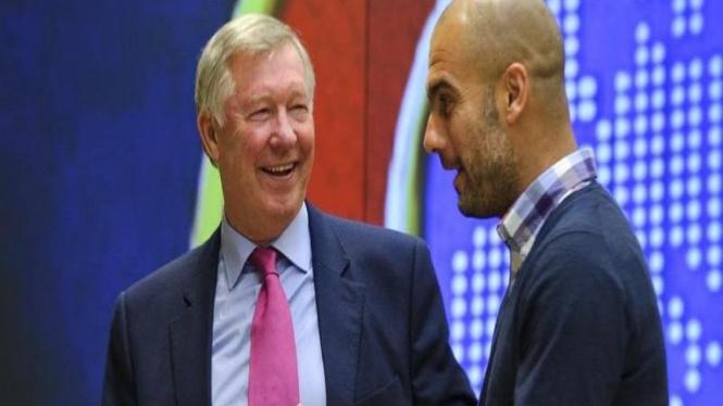 Pep Guardiola dan Alez Ferguson bertemu
