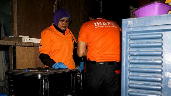 Olah TKP Penemuan Bahan Peledak di Tambora