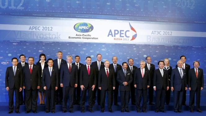 Para Pemimpin Negara Peserta KTT APEC 2012 di Rusia