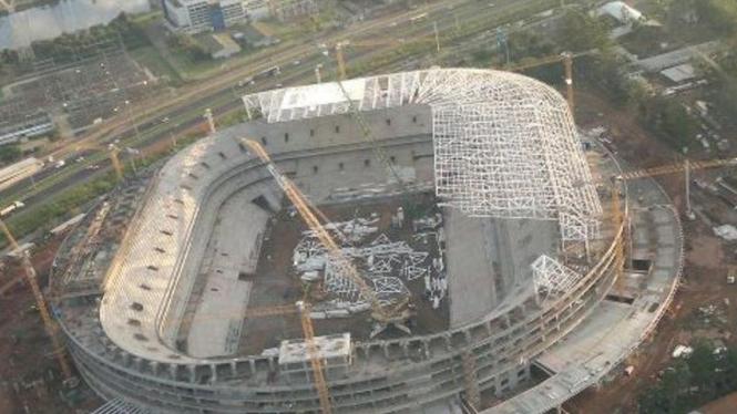 Salah satu stadion yang dikerjakan untuk Piala Dunia 2014