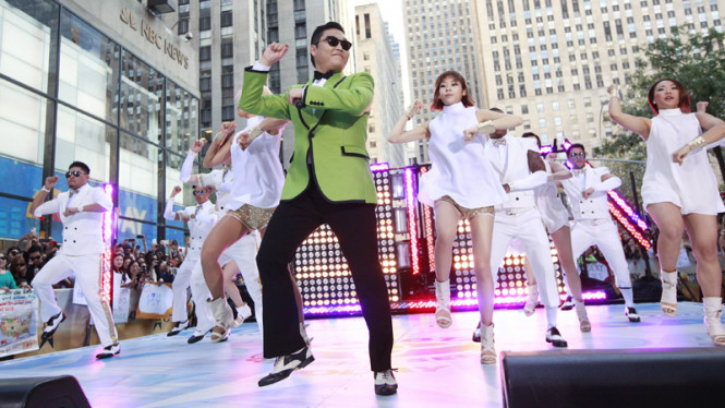 Aksi Psy di  The Today Show