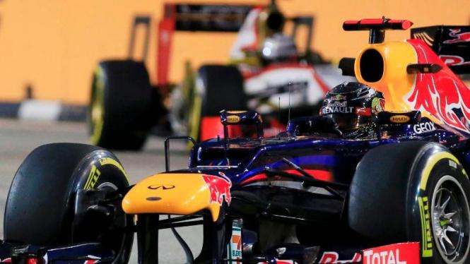 Sebastian Vettel di GP Singapura