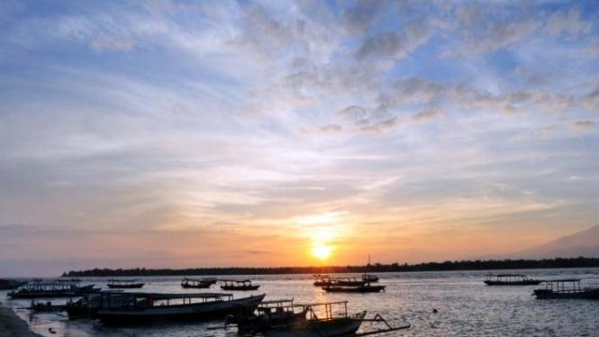 Pantai Gili Trawangan, Lombok.