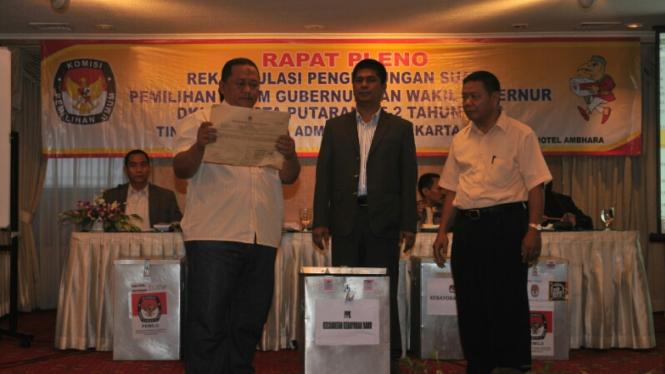 Rekapitulasi Surat Suara Pilkada DKI Jakarta Putaran ke 2