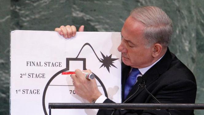 PM Israel Benjamin Netanyahu pidato di PBB