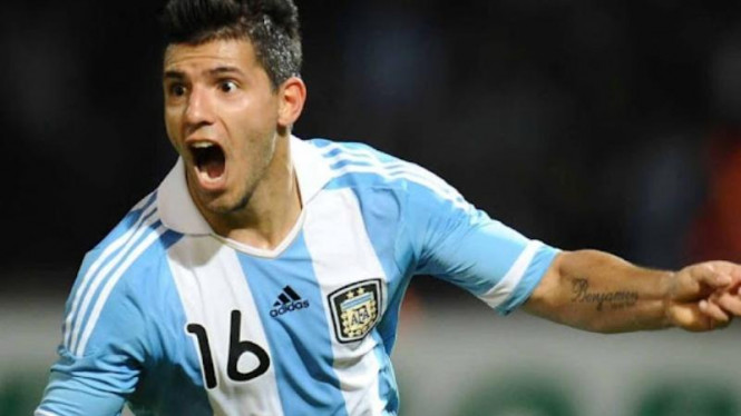 Penyerang Timnas Argentina, Sergio Aguero