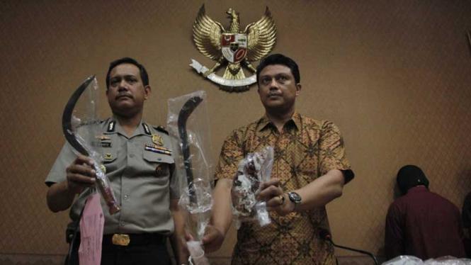 Release Barang Bukti Kasus Pembunuhan Pelajar