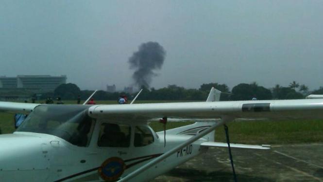 Pesawat Cessna jatuh di Bandung Air Show 2012
