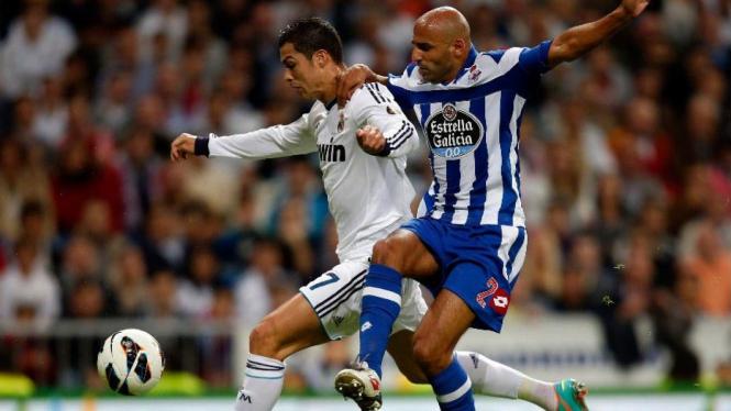 Deportivo La Coruna saat menghadapi Real Madrid