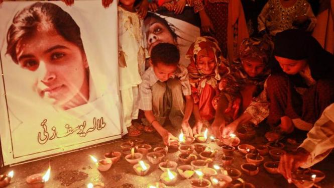 Anak-anak di Pakistan mendoakan kesembuhan Malala Yousafza