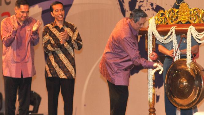 Presiden SBY, Gita Wirjawan dan Joko Widodo