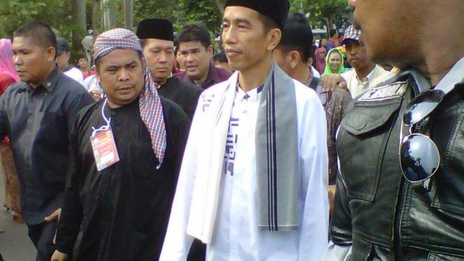 Jokowi saat membuka Kirab Rakyat Indonesia