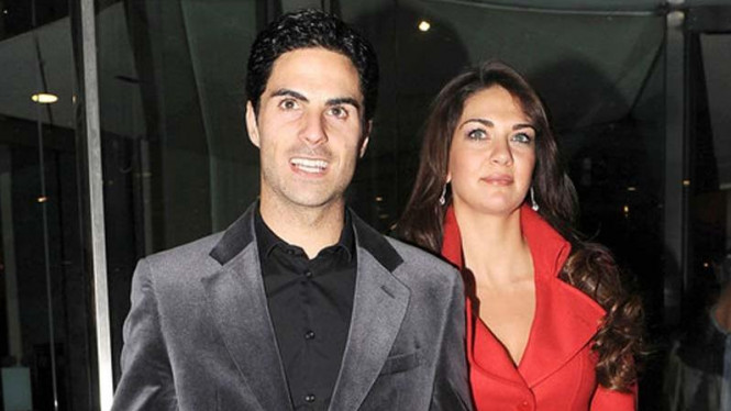 Mikel Arteta dan istri, Lorena Bernal