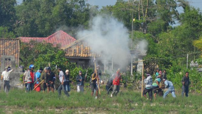 Ilustrasi/Bentrok Antar Warga di Lampung