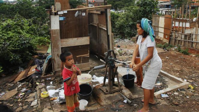 Ilustrasi/Sanitasi tak layak yang banyak ditemukan di pemukiman kumuh
