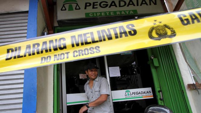 Pegadaian di Cipete Raya, Jakarta Selatan dirampok
