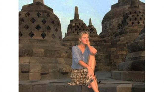 Maria Sharapova di Candi Borobudur, Jawa Tengah