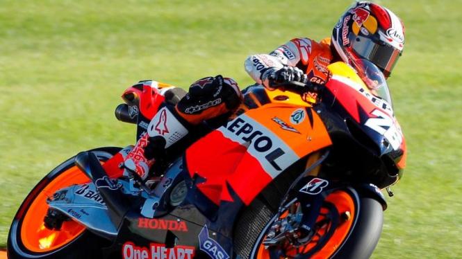 Dani Pedrosa di Kualfikasi MotoGP Valencia 2012