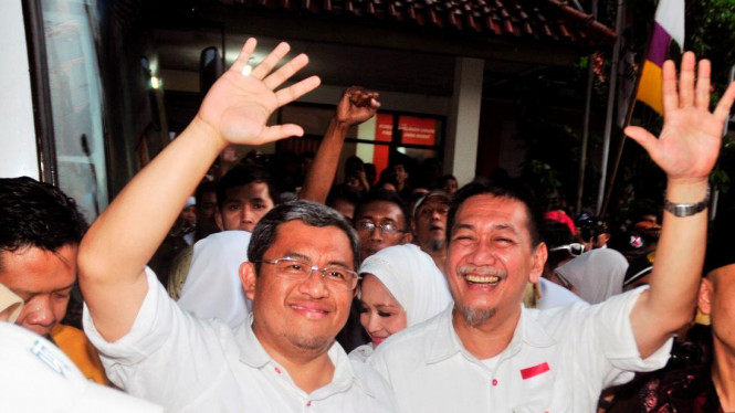 Cagub Jawa Barat Ahmad Heryawan dan Deddy Mizwar