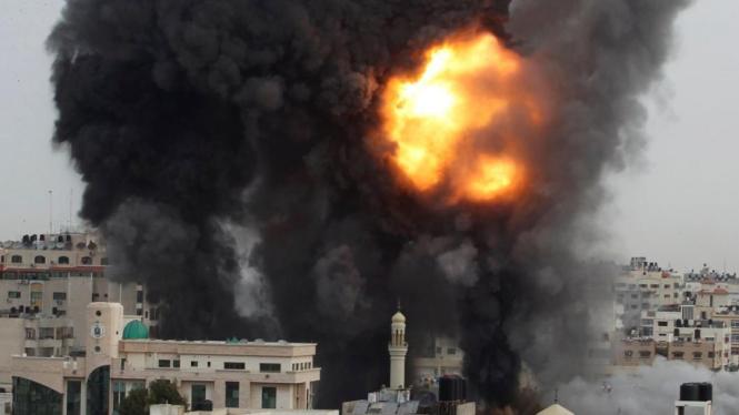 Serangan udara Israel atas Gaza