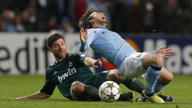 Xabi Alonso Saat Pertandingan Manchester City vs Real Madrid di Liga Champions