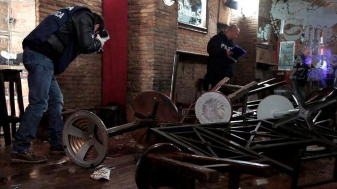 Lokasi kerusuhan suporter Lazio dan Tottenham sedang disidik polisi