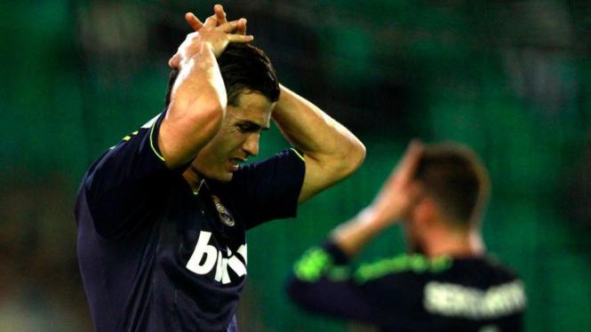 Cristiano Ronaldo ketika Real Madrid dikalahkan Real Betis