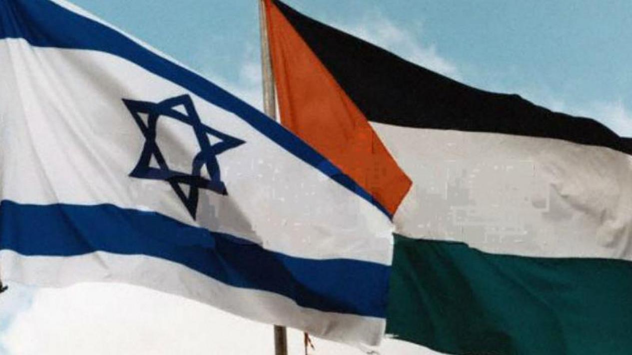 Bendera Israel dan Palestina.