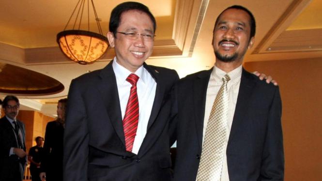 Ketua DPR Marzuki Alie dan Ketua KPK Abraham Samad