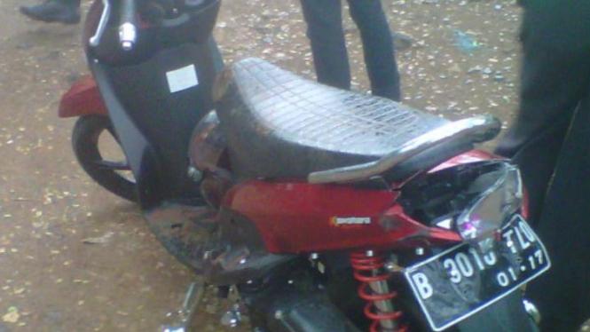 Motor korban kecelakaan