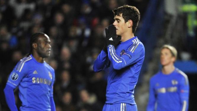 Pemain Chelsea usai gagal di Liga Champions
