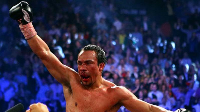 Juan Manuel Marquez usai menang KO atas Manny Pacquiao