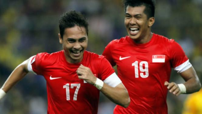 Pemain Singapura, Shahril Ishak, dan Khairul Amri