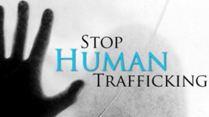 Ilustrasi anti perdagangan manusia.