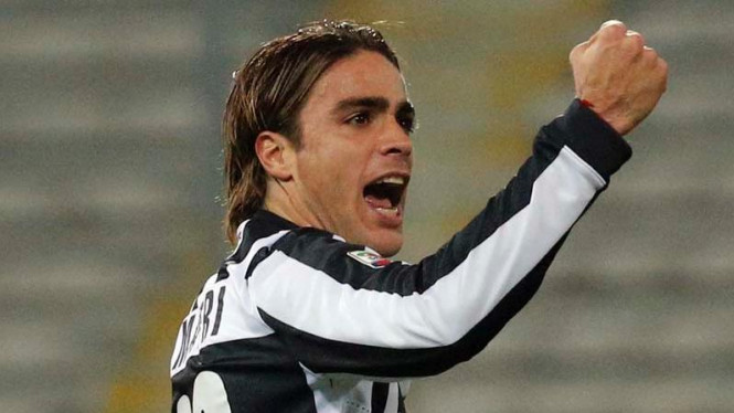Striker Juventus Alessandro Matri
