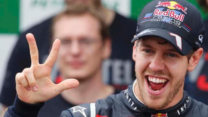 Pembalap Red Bull Racing, Sebastian Vettel