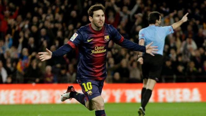 Striker Barcelona Lionel Messi