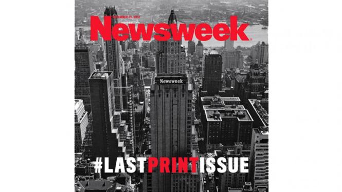 Edisi Cetak terakhir Newsweek (Last Print Issue)