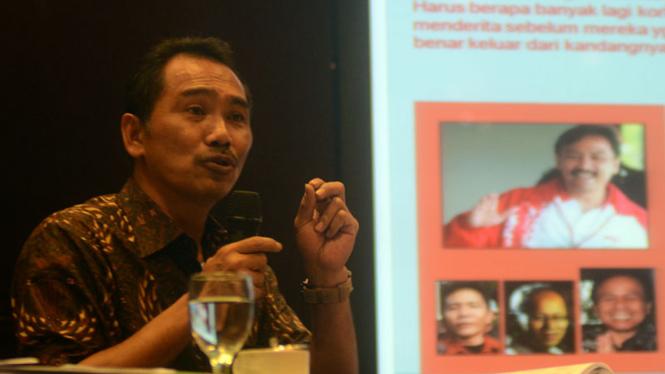 Rizal Mallarangeng Beri Keterangan Perkembangan Kasus Hambalang