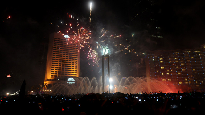 Ilustrasi Perayaan Tahun Baru  di Jakarta