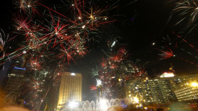 Perayaan Tahun Baru 2013 di Jakarta