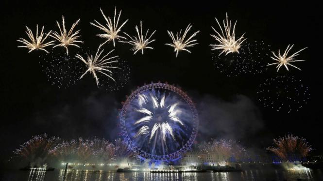Perayaan Tahun Baru 2013 di London