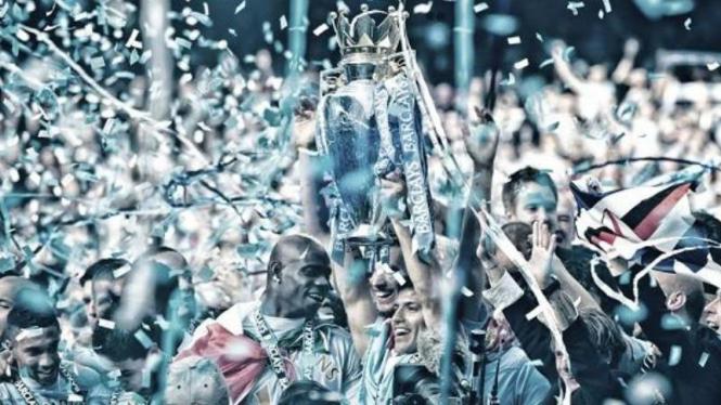 Manchester City saat merebut juara Premier League