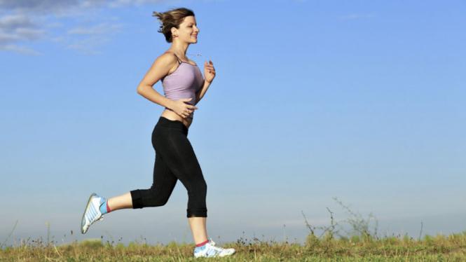 Wanita jogging.